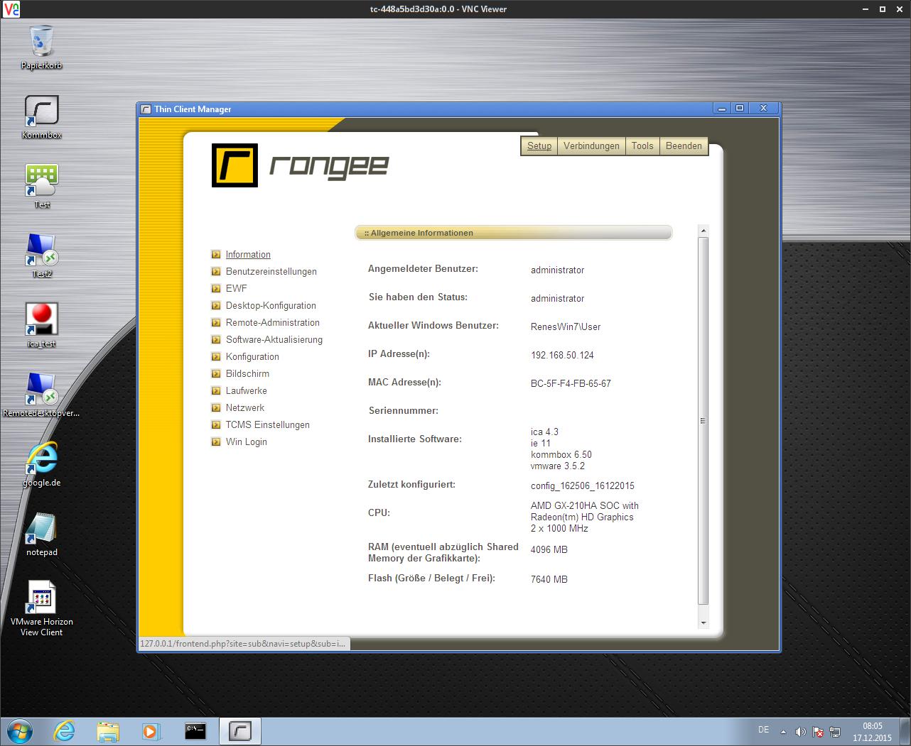 5 B  Desktop-Spiegelung via VNC